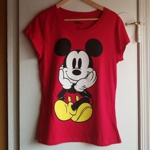 Red Mickey Mouse T-shirt